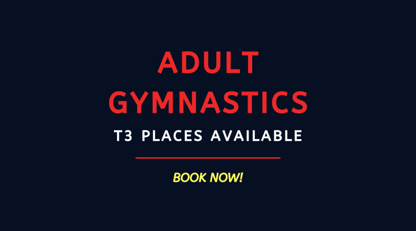 BOOK NOW: Adult Gymnastics Term 3 '19/'20
