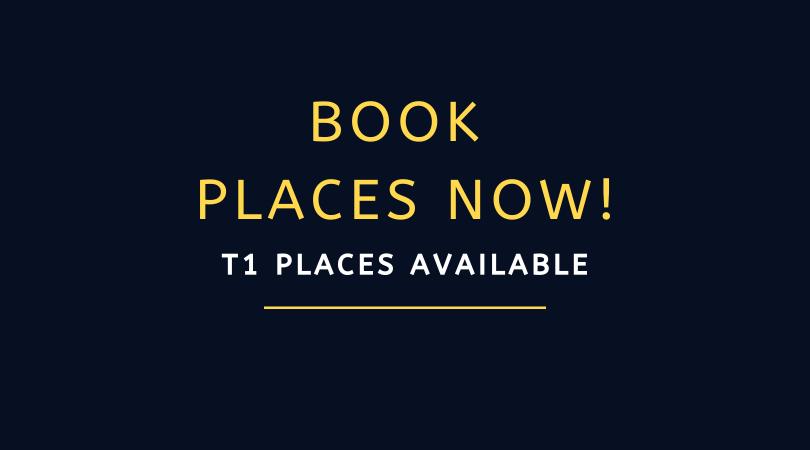 BOOK NOW: Term 1 20/21 Places